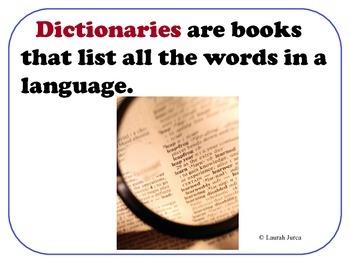 How to use a Dictionary Presentation