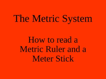 How to use a Metric Ruler and Meter Stick PowerPoint