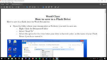 How to use a USB Flash Drive