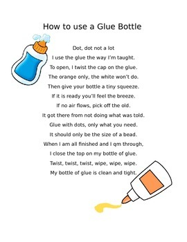 How to use a glue bottle