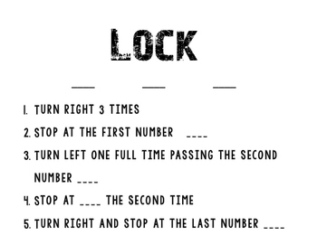 How to use a lock step by step instructions