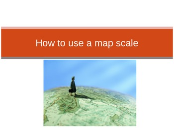 How to use a map scale