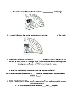 How to use a protractor guided notes