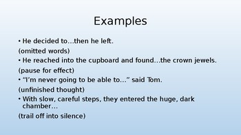How to use ellipsis