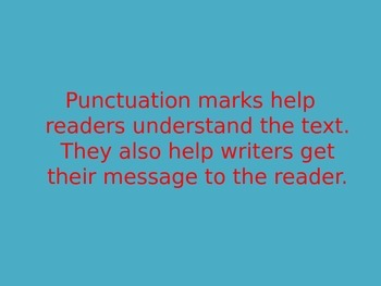 How to use end punctuation PPT!
