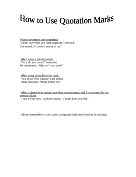 How to use quotation marks lesson