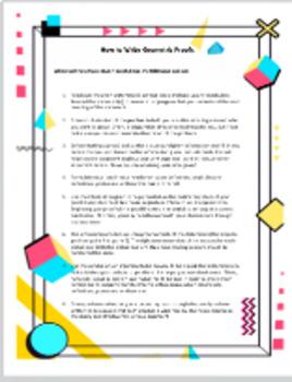 How to write Geometric Proofs