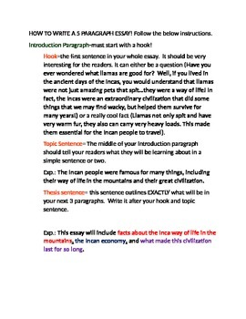 How to write a 5 paragraph essay with thesis sentence