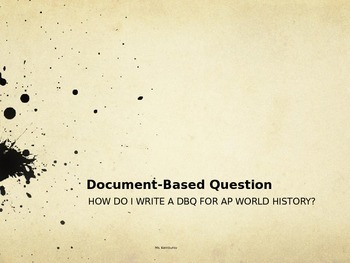 How to write a DBQ essay for AP World History