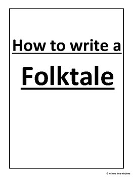How to write a Folktale