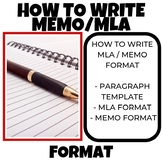 How to write a MEMO MLA FORMAT