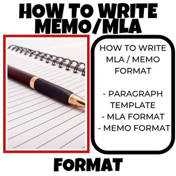 How to write a MEMO MLA FORMAT