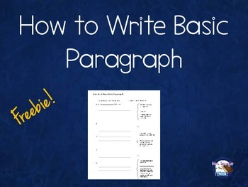 How to write a Basic Paragraph ~ Quick Review FREEBIE :)