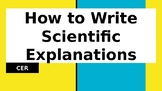 CER - How to write a Scientific Explanation