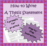 How to write a basic thesis statement - for middle school, early high school