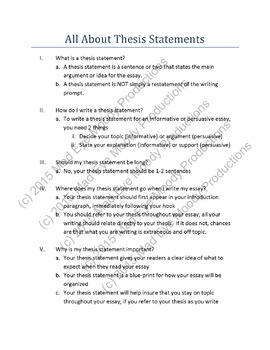 how to write a basic thesis statement  for middle school early  how to write a basic thesis statement  for middle school early high school