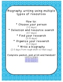How to: Write a biography! Complete pack from START TO FINISH. USE AT HOME