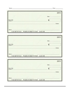 Write Standard Form and Word Form by Writing a Check