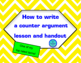 How to write a counter-argument paragraph: persuasive writing