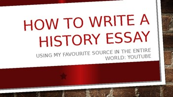 How to write a history essay - research