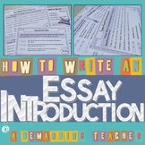 Essay introduction: how to write a hook and a thesis state