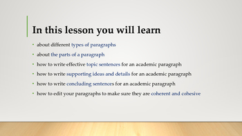 How to write a paragraph for a term paper or essay?