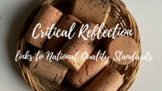 How to write a personal critical reflection - EYLF, early