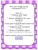How to write a research report! Complete pack from topic to final copy! Gr 3+