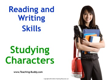 How to Write About Fictional Characters - PowerPoint and worksheets