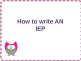 IEP-How to write an IEP