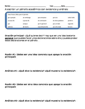 How to write an academic paragraph in Spanish- El parrafo academico en  espanol