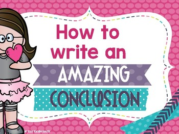 How to write an expository conclusion POSTER PACK