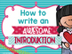 How to write an expository introduction POSTER PACK