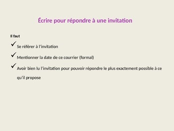 Writing Letters of Invitation in French