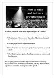 How to write and deliver a powerful speech + Answer Key