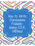 How to Write Conclusions- Foldable Using C.E.R. Method