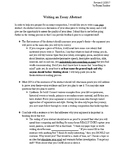 How to write essays -- conversational outline plus examples
