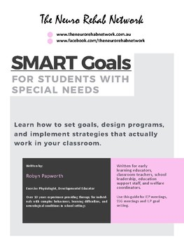 How to write learning SMART goals for students with special needs