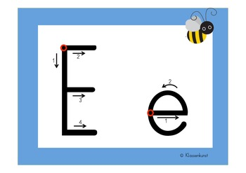 How to write letters. Bee theme in English and German