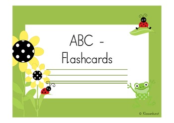 How to write letters. Ladybug theme. Flashcards in English and German.