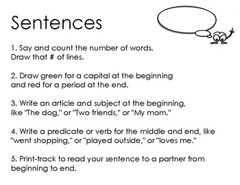 How to write words and sentences