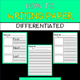 How to (writing paper) - differentiated versions