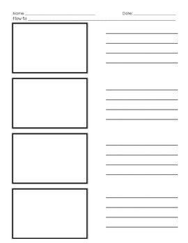 """How-to"" writing prompt sheets"