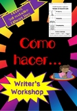 How to... writing unit SPANISH Como hacer... unidad de esc