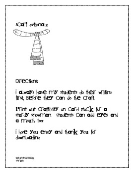 How to....make a snowman!  Writing & Craft!