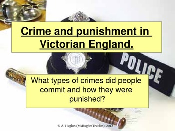 How was Crime punished in the 19th century?
