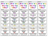 How was my day today? 5 Day Behavior Sheet - CUSTOM ORDER AS