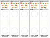 How was my day today? 5 Day Behavior Sheet - Traffic Light Red/Yellow/Green