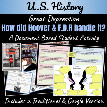 The Great Depression: How did Hoover & F.D.R handle it? ~A DBQ Activity~