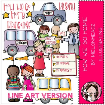 Melonheadz: How we go home clip art - LINE ART